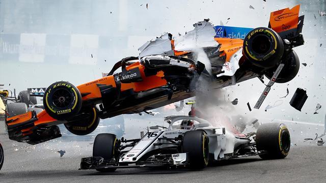 Hectic First Corner Crash At Belgian F1 Grand Prix