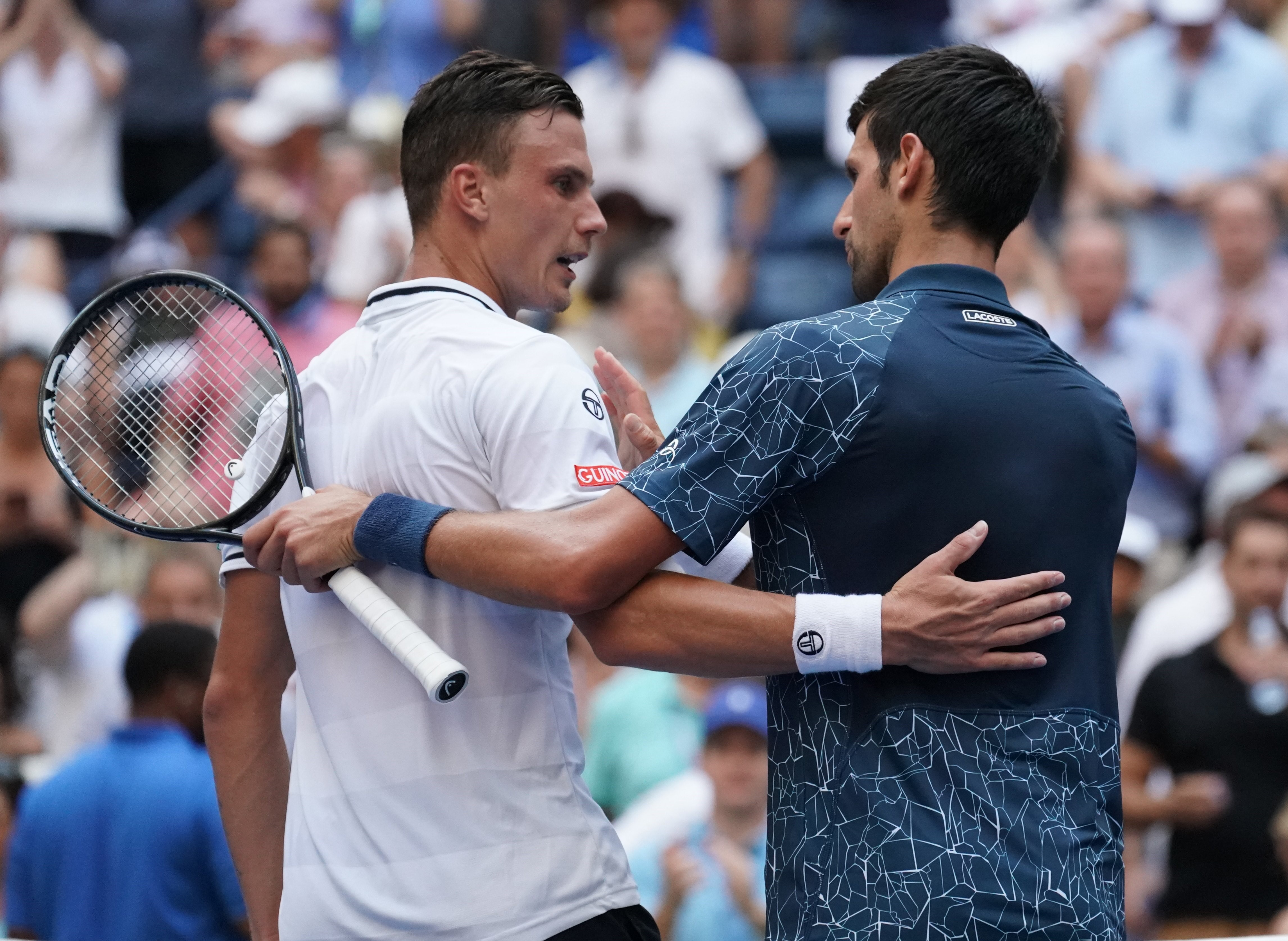 Novak Djokovic et Marton Fucsovics