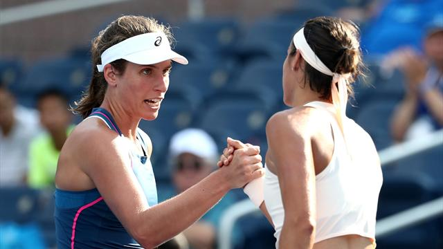 Konta succumbs to classy Garcia in first round