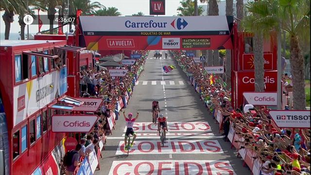 Напряженка на финише пятого этапа была серьезная. Победил Кларк, Молар вышел в лидеры общего зачета