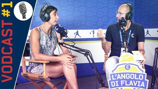 L'Angolo di Flavia: prima puntata da New York, Flavia Pennetta incontra Paolo Lorenzi