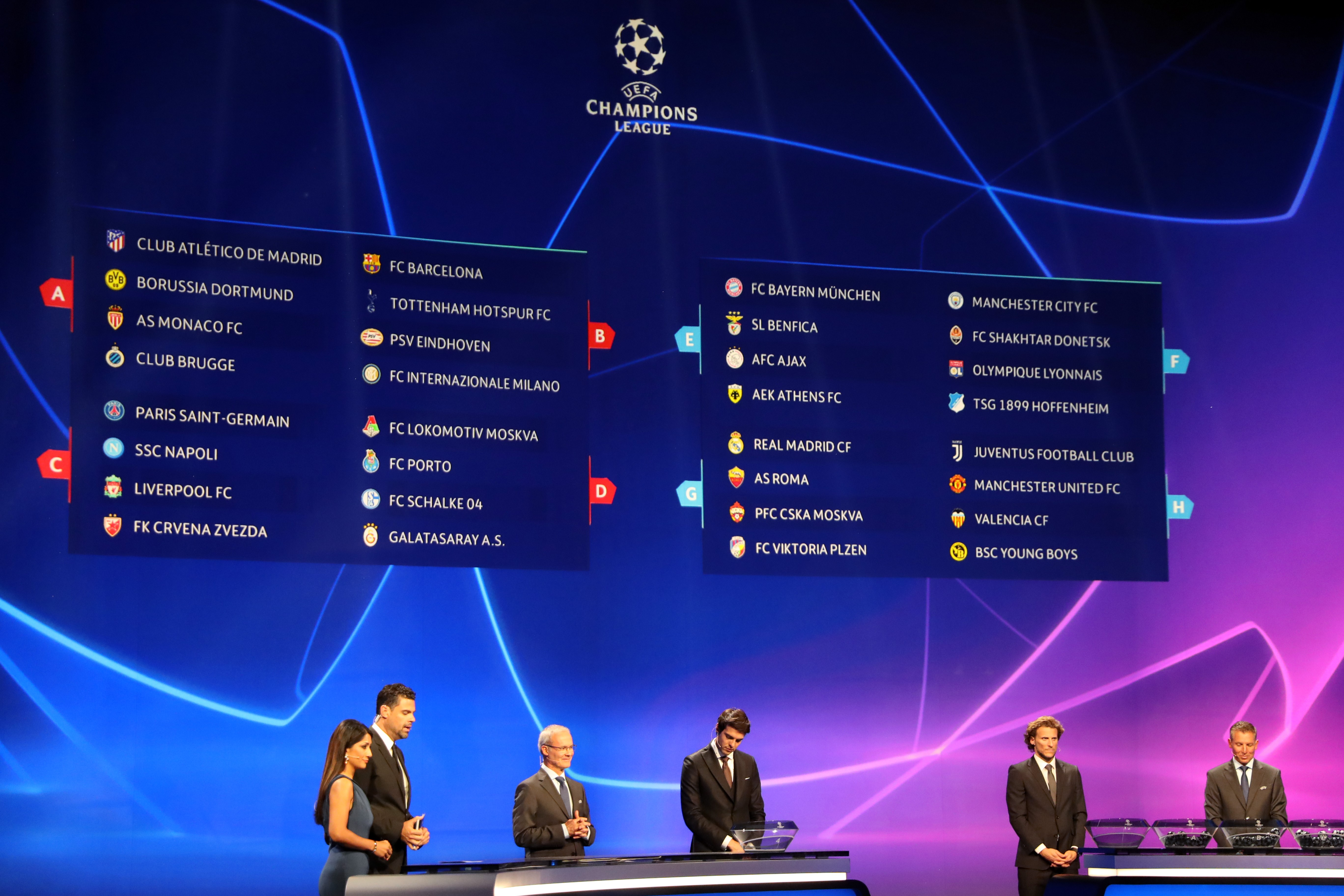 Champions League: Draw