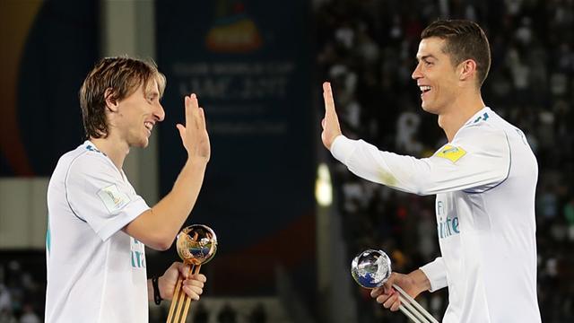 Modric reveals Ronaldo's reaction after he beat forward to top UEFA award