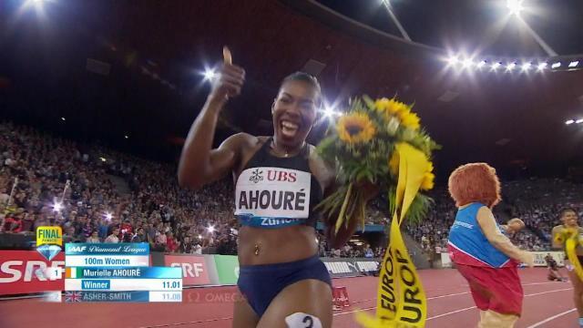 Zurich - Murielle Ahouré triomphe sur 100m