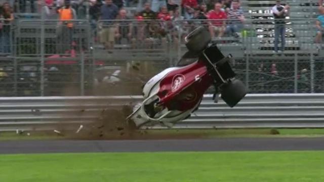 Fp Monza. Ericsson, botto a 300 all'ora. Distrutta l'Alfa-Sauber