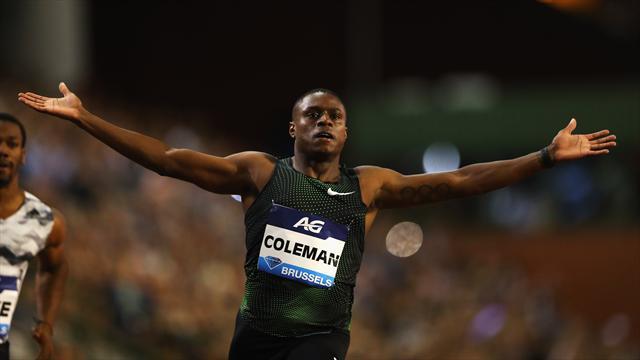Coleman claque le 100m de l'année à Bruxelles