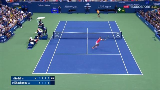 US Open 2018: El punto imposible de Rafael Nadal que puso en pie a la Arthur Ashe