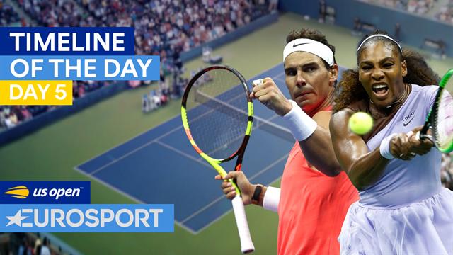 US Open2018: Thiem, a raquetazos, un cámara desplomándose y Nadal y las Williams ovacionados