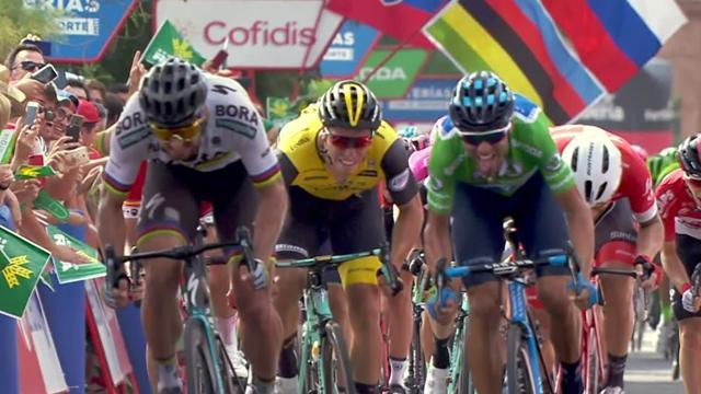 Умопомрачительная схватка Вальверде и Сагана на финише восьмого этапа «Вуэльты»