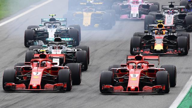 Hamilton wins as Vettel spins in Ferrari's backyard