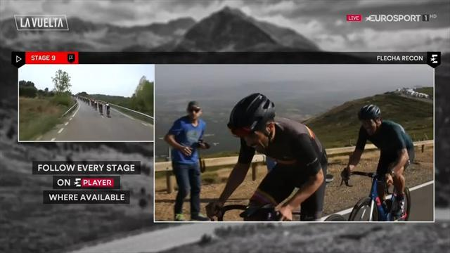 Flecha y Contador reconocen La Covatilla... con un divertido pique incluido