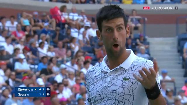 Quand Djokovic prend un «time violation» au service, c'est le ramasseur de balles qui trinque