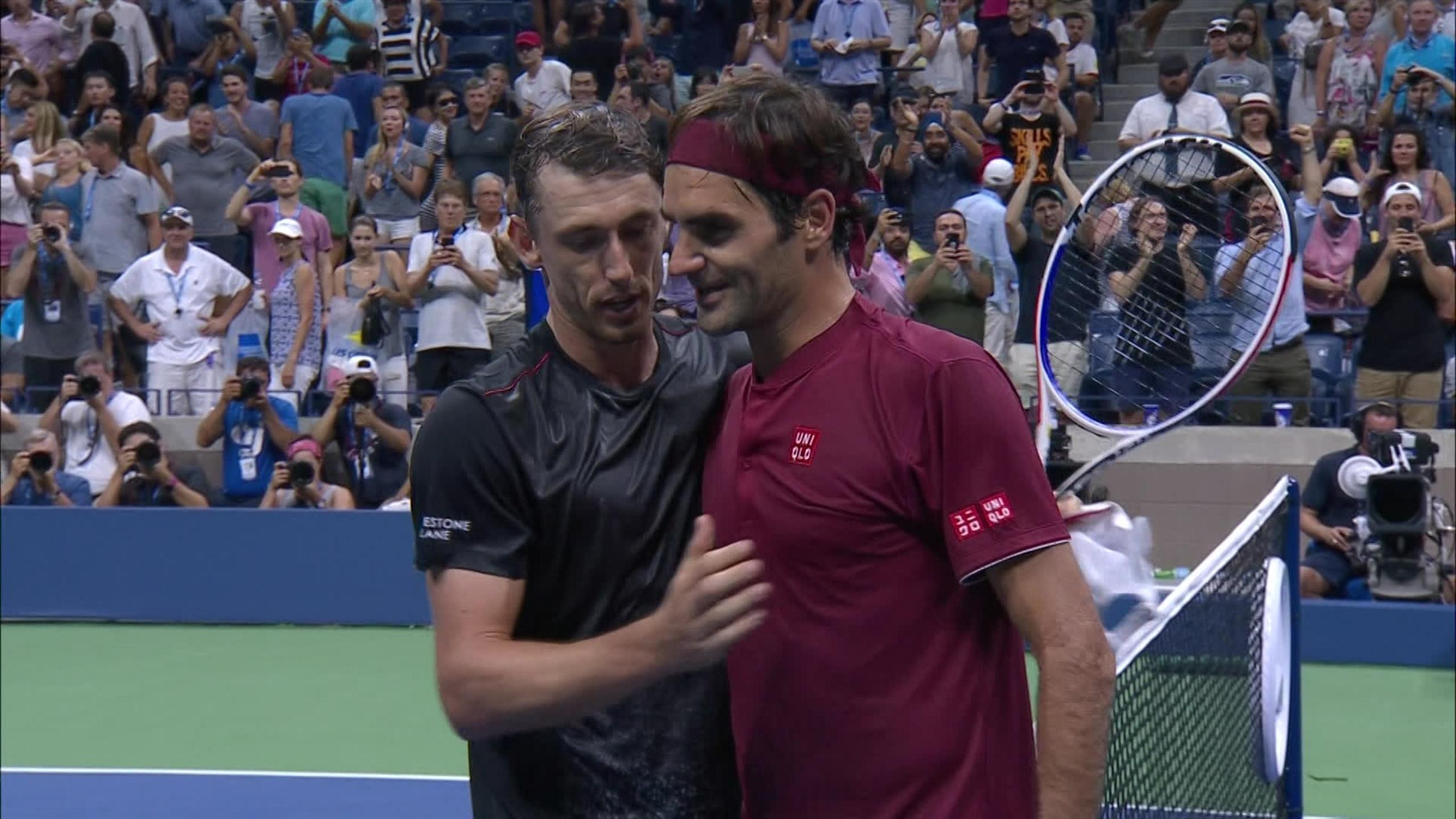 Federer utslagen ur us open