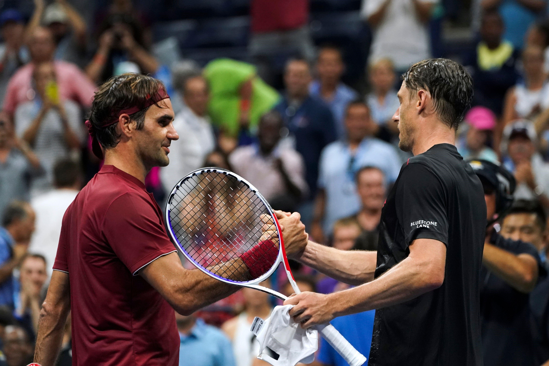 Roger Federer et John Millman
