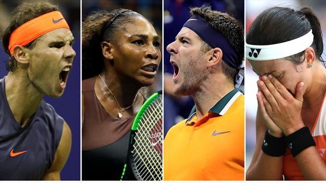 US Open 2018: Nadal, Serena, Del Potro y Sevastova, los grandes triunfadores del noveno día