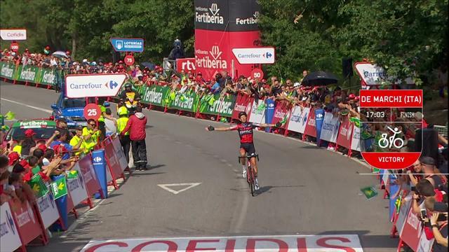 Vuelta 2018: i momenti chiave dell'11esima tappa, fuga e vittoria per Alessandro De Marchi