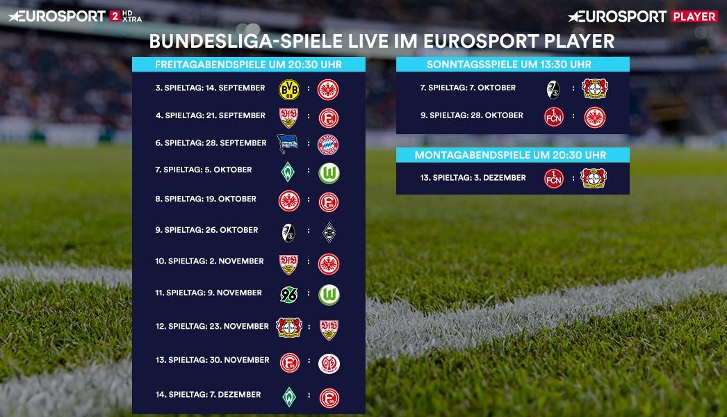 Bundesliga Spieltage 7 Bis 14 Terminiert Diese Spiele Laufen Im