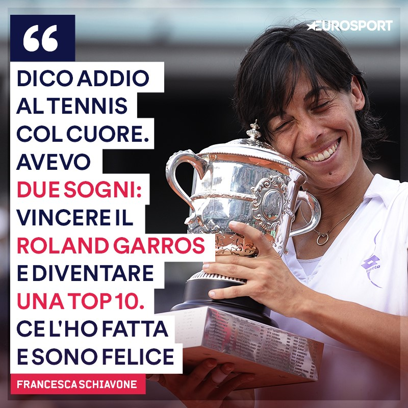 Francesca Schiavone, addio al tennis
