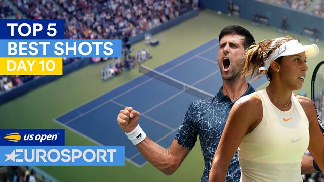 Les angles d'Osaka, la vista de Djokovic : Le top 5 des points de jeudi