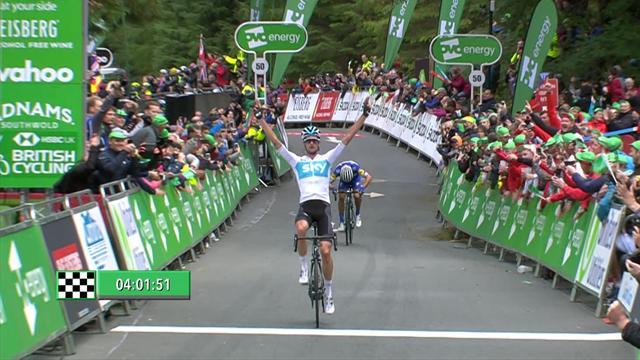 Tour de Gran Bretaña 2018 (6ª etapa): Wouter Poels gana y mete miedo a Alaphilippe