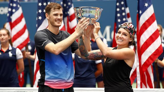 Jamie Murray defends US Open mixed doubles title with Bethanie Mattek-Sands