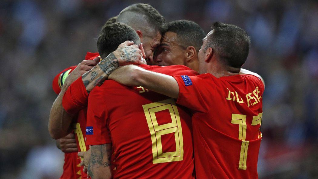 Ligue Des Nations L Espagne S Impose En Angleterre 1 2 Ligue