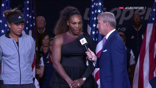 Serena stor i nederlagets stund - hyllar Osaka efter stökig final