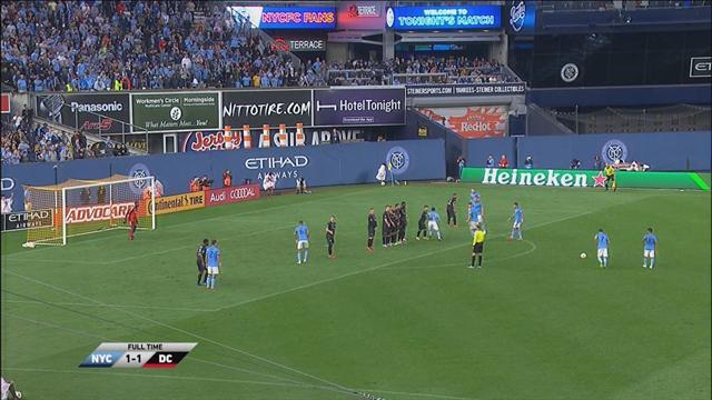 Höjdpunkter: Villa räddade New York City FC med vackert frisparksmål