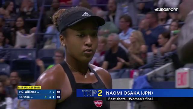 Топ-5 ударов предпоследнего дня US Open. Хоть в чем-то Серена была лучше Осаки