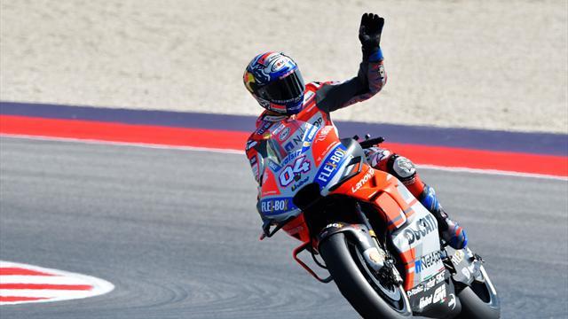 Dovizioso stravince! Lorenzo cade, sul podio Marquez e Crutchlow. Rossi 7°