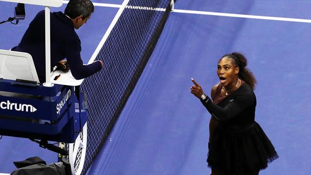 Efter utbrottet - Serena Williams straffas