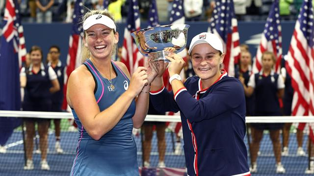 'Bummed' Barty and Vandeweghe denied chance to celebrate title