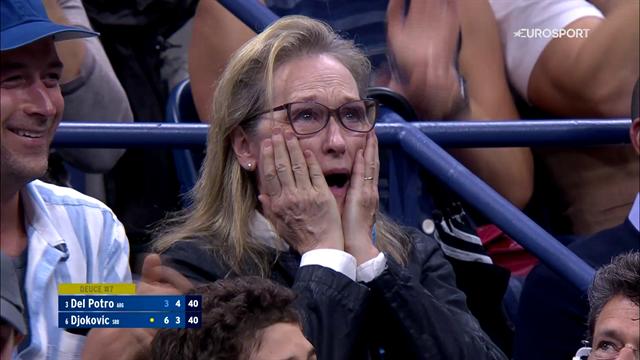 😂La cómica reacción de Meryl Streep en el mítico Del Potro-Djokovic y otras noticias antes de comer