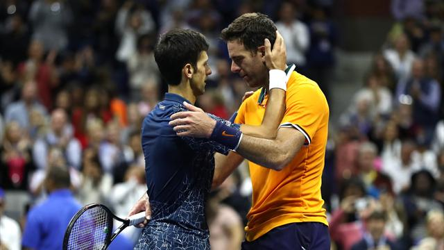 VIDEO: Djokovic comforts tearful Del Potro in touching moment