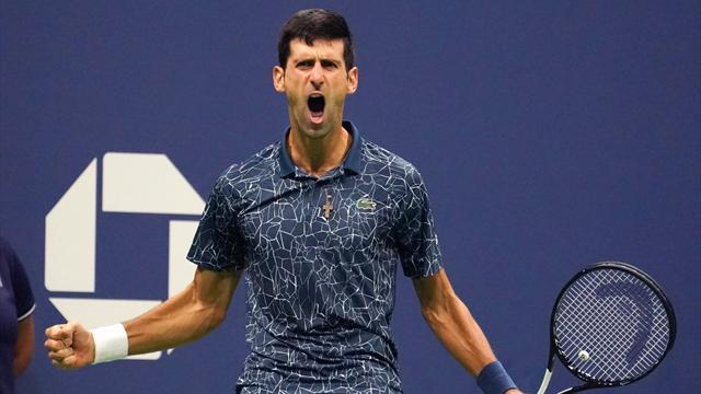 """En deux sets et un """"match de foot"""", Djokovic a étouffé Del Potro"""