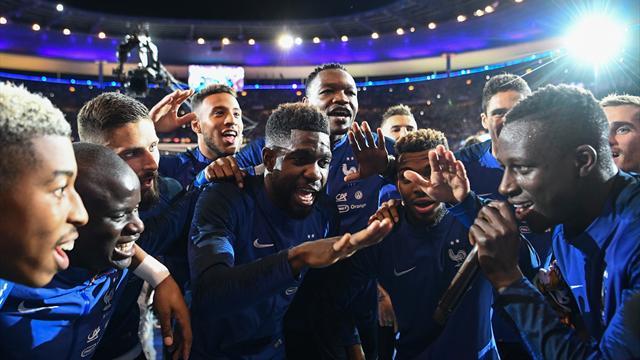 """Emotion, chanson, frissons : Les Bleus ont vécu """"un grand moment"""""""