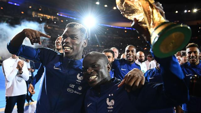VIDEO: France squad lead 80,000 fans in singing N'Golo Kante's name