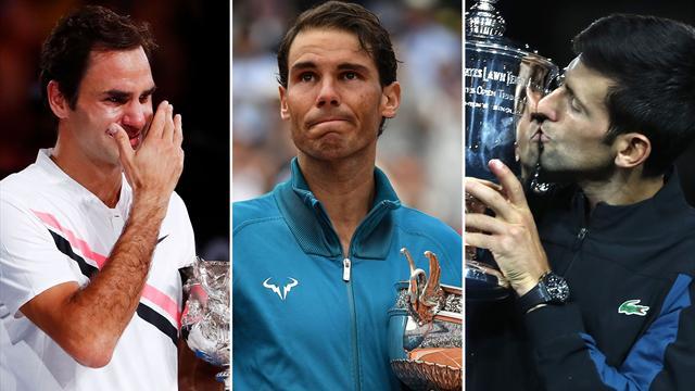 Federer, Nadal e Djokovic: l'eccezionalità di tre fuoriclasse spiegata dai numeri