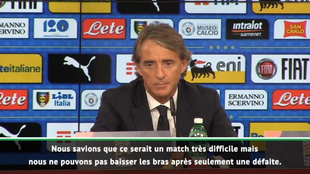 "Italie - Mancini : ""Ne pas baisser les bras"""
