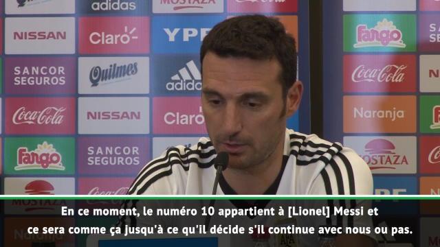"""Argentine - Scaloni : """"Le numéro 10 est réservé à Messi"""""""