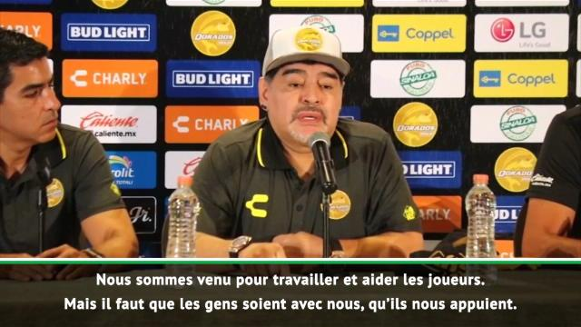 """Mexique - Maradona : """"Je ne suis pas venu ici en vacances"""""""