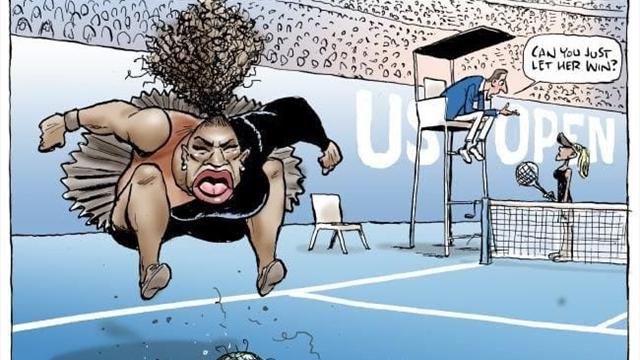 Автор «Гарри Поттера» заклеймила художника Herald Sun расистом и сексистом за карикатуру на Серену