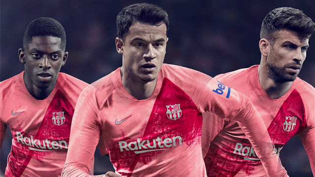 Le troisième maillot du Barça est (très) rose saumon