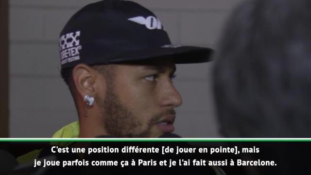 """Brésil - Neymar : """"Je peux jouer à n'importe quel poste"""""""
