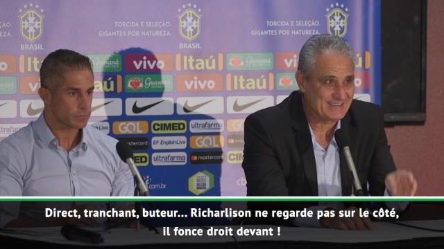 """Brésil - Tite félicite un """"remarquable"""" Richarlison"""