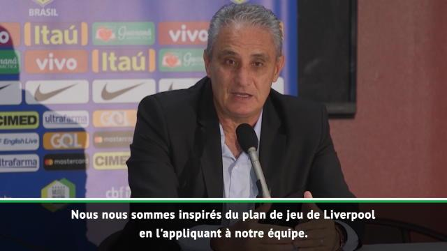 """Brésil - Tite : """"Nous nous sommes inspirés de Liverpool avec Firmino"""""""