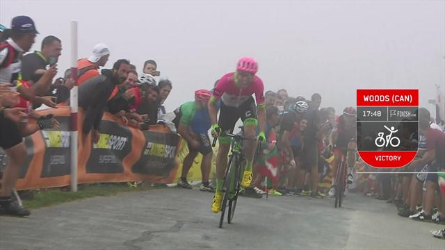 La Vuelta Stage 17 - Key Moments:  Valverde cuts Yates' lead as Woods prevails on Monte Oiz
