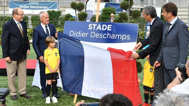 Deschamps inaugure un stade à son nom à Cap d'Ail