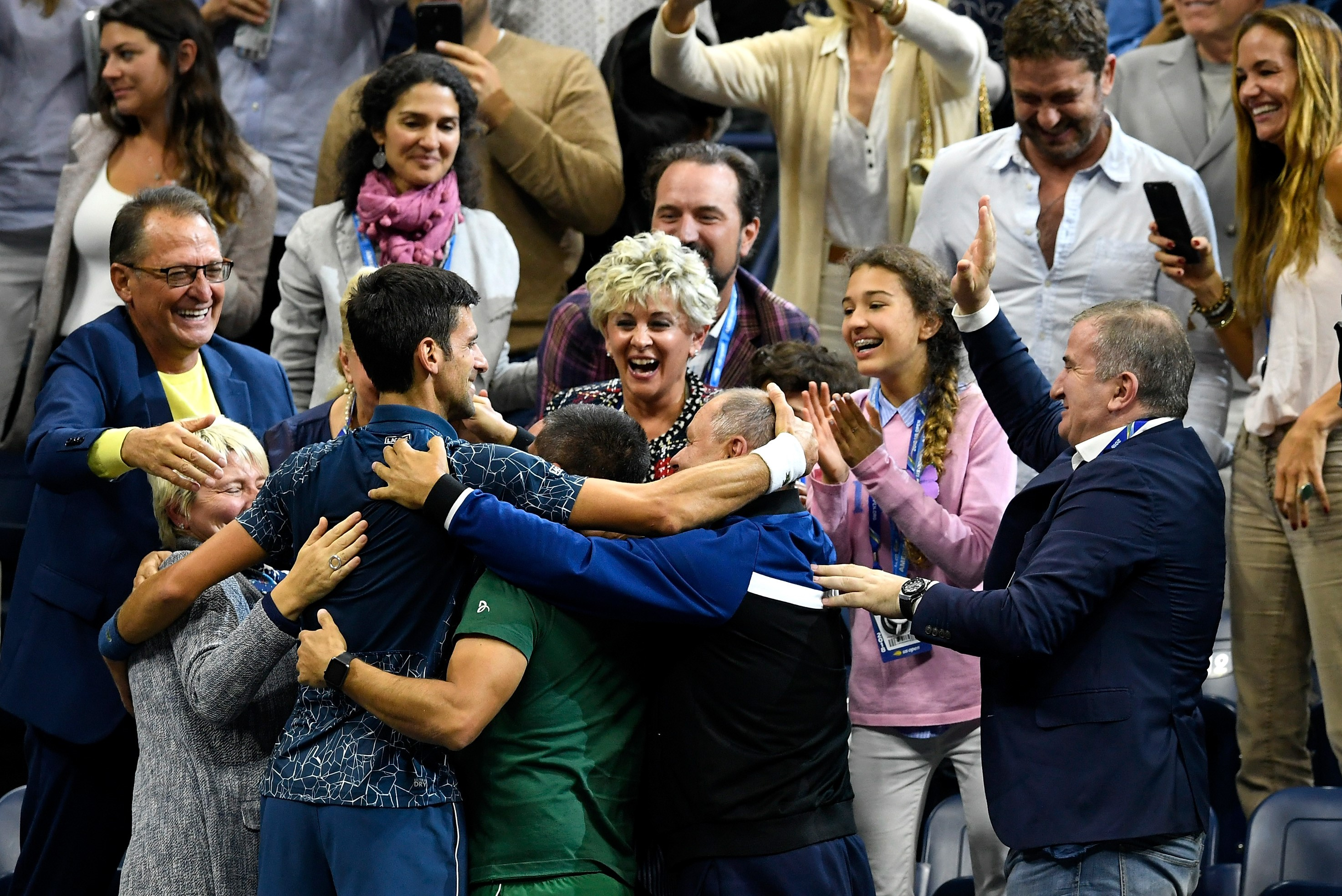 Djokovic team - US Open 2018