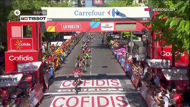 Stupendo finale alla Vuelta: impresa del fuggitivo Wallays che resiste e batte Sagan e Viviani